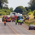 The scene of the fatal crash near Castlebaldwin in August last year