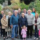 Some members of the Powell Family with Martina and Denis Goggin in the Circle of Life Donor Garden in Salthill, Galway recently
