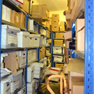 The station has inadequate room to store evidence and files