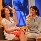 Actresses Adrienne Meyler and Heather Hadrill from Wexford Drama Group at the Western Drama Festival in Tubbercurry