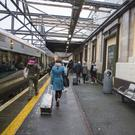 Passengers alighting from a train from Dublin at MacDiarmaida Station in Sligo. Pics: Donal Hackett