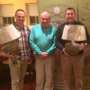 The doubles winners from Tubbercurry Golf Club: Vinny Murphy, Charlie Scanlon, Scanlon Insurance sponsor, Keith Feehily and Jim T Marren Captain at the recent awards