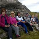 Club members relaxing during a recent walk - Eileen Callaghan, Denise O'Dowd, Dymphna McNamara, Zita Griffin, Noreen Roche and Philip James