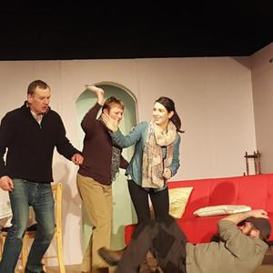 "The Cloonacool Players in rehearsals for Jimmy Keary's hilarious comedy ""Mother Knows Best"" which performs on 24-26 February in Cloonacool Community Centre"