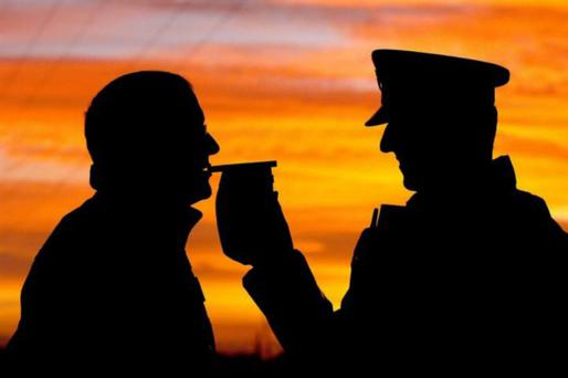 Gardaí have also suggested that people with 40mg of alcohol per 100ml of blood were twice as likely to be involved in a collision (Stock photo)