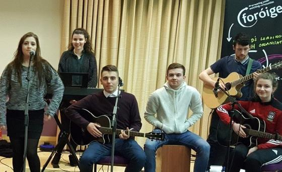 Ballisodare teenage band 'Lost and Found' are performing a special matinee for local schools