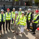 Cian Burke, Ward & Burke; Project Manager; Padraig Hanly, Irish Water; Fineen O'Driscoll, James Melvin, Mark Cummins, CoCo; Senior Resident Engineer; Michael Mannion,Ward & Burke; Director of Services Tom Kilfeather, CoCo; Cathaoirleach Cllr Hubert Keeney; and Mary Harty, Sligo Chamber