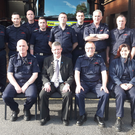The Cathaoirleach of Sligo County Council Councillor Hubert Keaney visited Sligo Fire Station on Thursday evening last to thank the Fire Service staff for their exceptional work in recent weeks. He told them that their efforts in fighting forestry and gorse fires in Ballintogher, Geevagh and Easkey required great courage and professionalism, and said their work was acknowledged and appreciated by the whole community