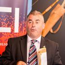 Minister of State Kevin 'Boxer' Moran speaking in Sligo on Monday