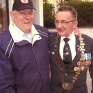 Ex-Sgt James Gormley and James Tahaney at a veterans' reunion.