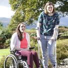 Mairead and Aoibheann Mitchell from Knocknarea, Sligo and whose parents are fundraising to build a home for them so that they can live independently