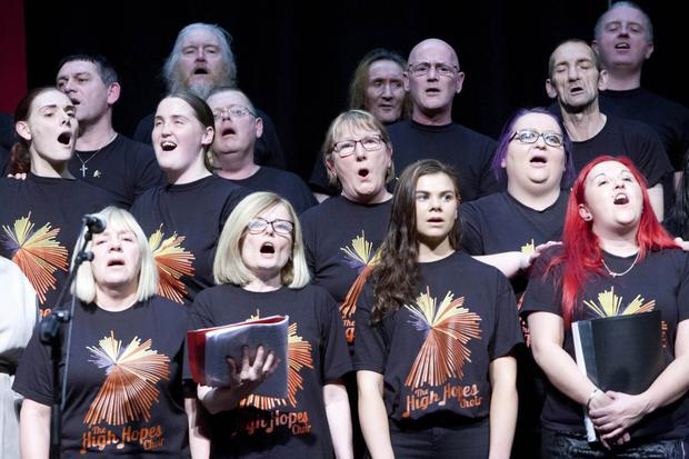 The High Hopes Choir performing at the Sligo International Choral Festival in the Knocknarea Arena last year
