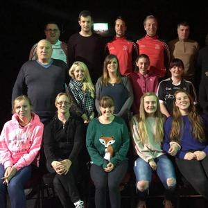 The cast of the Corran Players' Christmas panto 'Yee-Haa! A Wild West Panto'