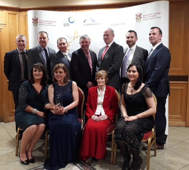 Martin McHale, Michael Carty, David Tuffy, Cllr Joe Queenan, Ciarán Hayes CE Sligo County Council, Ray O'Grady, Cllr Paul Taylor, Jennifer Scott, Mandy Killoran, Cllr Margret Gormley, Sinead Durcan