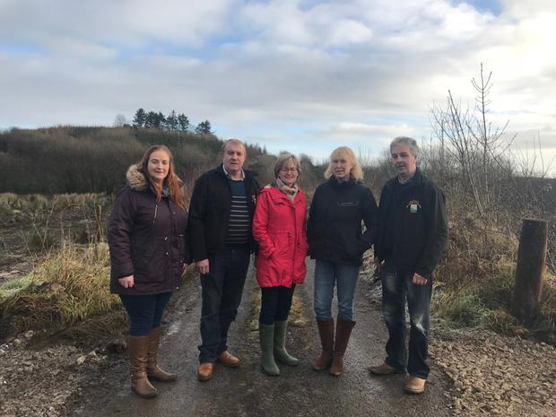 Mairead McGuinness MEP Mary Rooney Manorhamilton, Leitrim Chairperson of Irish Natura and Hill Farmer Association , Gerry Loftus Lahardane, Mayo, Mayo Chair (INHFA) Bridget Murphy, Ox Mountains, Sligo, Sligo Secretary (INHFA) and Gerard McGovern, Legnaderk, Cavan, member (INHFA)