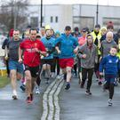 The start of the latest weekly Parkrun in Doorly Park, Sligo last Saturday morning