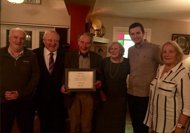 Paddy Egan from O'Connell Street in Ballymote celebrated his 90th birthday in Doddy's of Ballymote with friends and family