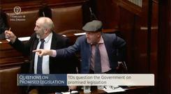 Kerry TD brothers Danny and Michael Healy-Rae in the Dáil