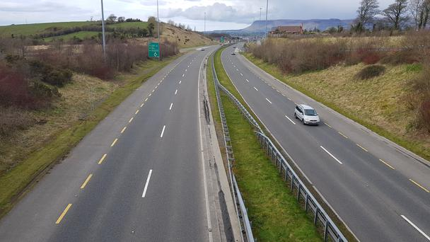 Almost 1.5 tonnes of litter was collected along the N4 dual carriageway in Sligo. Pic: Donal Hackett