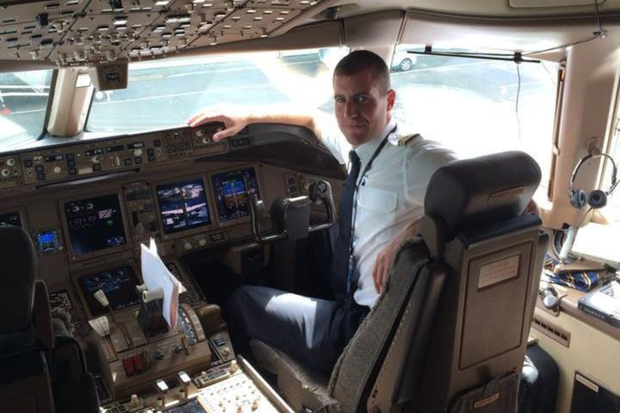 Emirates Pilot Jonathan Higgins before his motorbike accident in Dubai. Pic: Jonathan Higgins