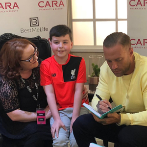 Calum Best chats to fans in Quayside Shopping Centre on Saturday.