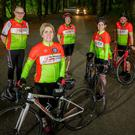 L to R: Ballisodare Bay Cycling Club chairman Willie McCann with members Coleen O'Connell, Dolores McCann, Judy Scanlon and Gavin Cantwell in Hazelwood, Co Sligo. Pic: James Connolly