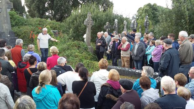 Brian Scanlon gives a guided tour of the Old Cemetery at Sligo Cemetery as part of Heritage Week