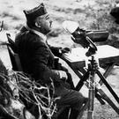 General Francisco Franco watching the front during the Spanish Civil War