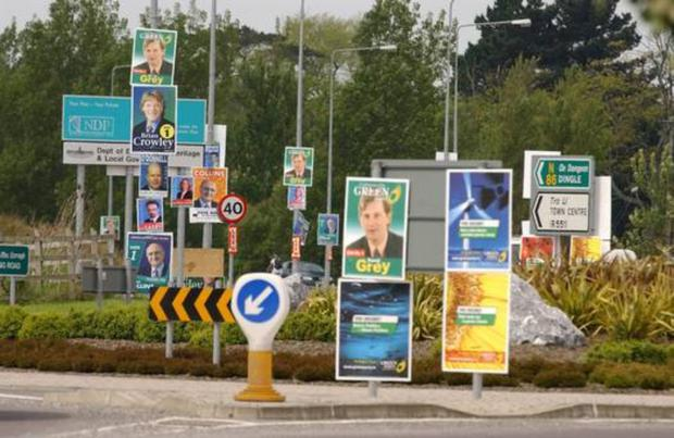 Election posters are just a blight on the urban and rural landscape of the country, not to mention a distraction to motorists