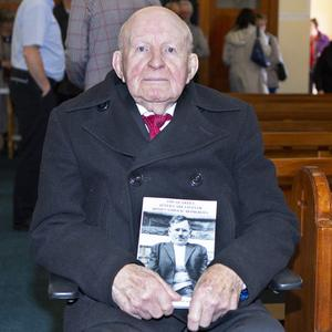 Michael Laurence Porter (97) pictured at the launch of a new book about his life after Nazareth House. Pic: Donal Hackett