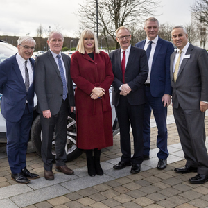 Launch of vehicle technology course at IT Sligo: Niall O'Donnellan, Deputy Tony McLoughlin, Minister of State, Mary Mitchell O'Connor, Senator Frank Feighan, Deputy Martin Kenny, IT President, Brendan McCormack