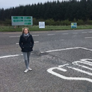 Cllr Maguire at the problematic junction on the N17 for the turn off for Ballymote