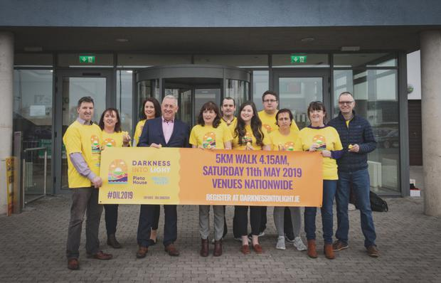 Corey Whyte and fellow organisers of the Sligo Darkness into Light at the recent launch of the May 11th event