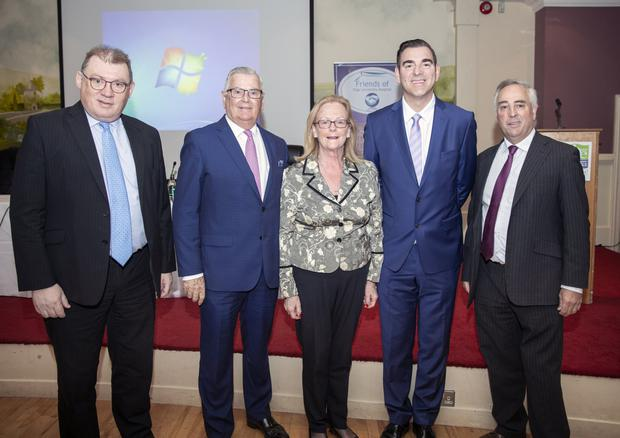 Dr. Fergal Hickey, Ray MacSharry, Cllr Rosaleen O'Grady, Cllr Tom MacSharry and Brendan McCormack at Friday's 'Health in Crisis' breakfast seminar in the Southern Hotel. Pic: Donal Hackett