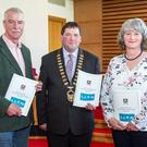 Attending the launch of the Disability, Inclusion and Access Strategy were: Cllr Declan Bree, Chair of the Disability Consultative Committee; Cathaoirleach Cllr Martin Baker, Susan Carton, St Angela's College