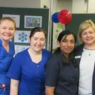 At the celebration of International Nurses Day at Sligo University Hospital, from left: Fiona Mahon, Clinical Nurse Specialist Heart Support; Laura Maguire, Clinical Nurse Specialist Frail/Elderly; Sophie Alookaran, candidate Advanced Nurse Practitioner Frail/Elderly; and Marion Ryder, Director of Nursing.