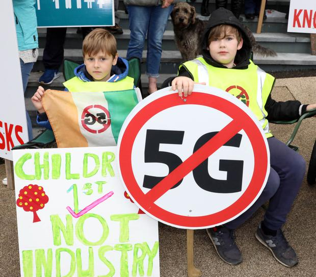 These children made their point outside County Hall, Riverside on Monday morning in advance of the County Council meeting