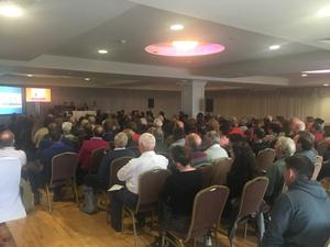 A section of the large attendance at the Enniscrone meeting