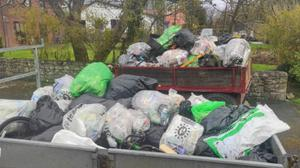 Some of the rubbish collected in Grange and Streedagh