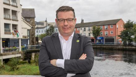 Labour Party leader, Alan Kelly, pictured in Sligo. Pic: Donal Hackett.