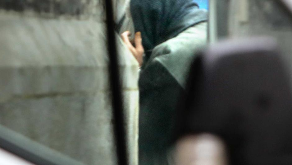 Christopher Feeney seen here entering Sligo Courthouse during his trial. Pic: Carl Brennan.