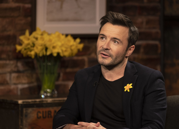 Shane Filan pictured speaking with Ryan Tubridy about losing his parents to cancer on The Late Late Show Daffodil Day Special in aid of the Irish Cancer Society. Picture Andres Poveda