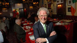 Jimmy Neary in his bar and restaurant Neary's in Manhattan.