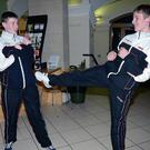 James Duffy and Cian Whiteside in action in City Hall.