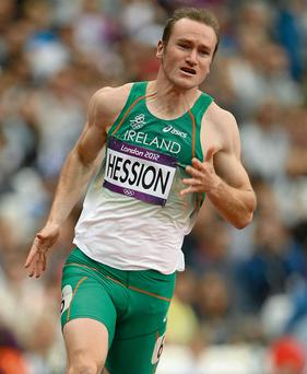 Ireland's top sprinter, Paul Hession.