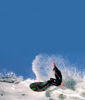 IT lecturer, Kerry Larkin, who will be taking on some of the world's top surfers at the European Championships this week
