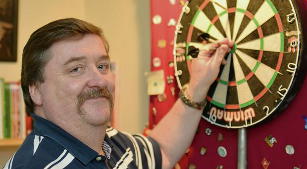 Sligo darts player, Sean McGowan, who has reached his 100th cap for Ireland.