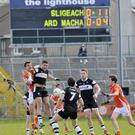 Scoreboard shows Sligo in control against Armagh.