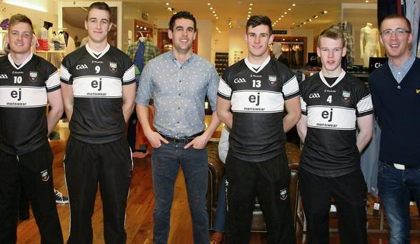 The presentation of sponsorship of jerseys for Sligo U21 team on behalf of EJs Menswear