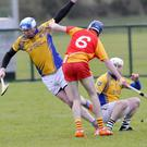 Michael Larkin of Calry/StJoseph's in action against Castlebar Mitchells